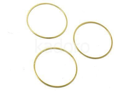 Metalowa obręcz 30 mm kolor złoty - 2 sztuki
