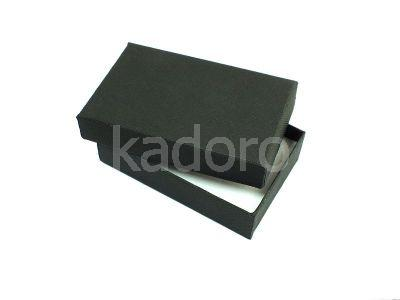 Pudełko z teksturą płótna prostokątne czarne