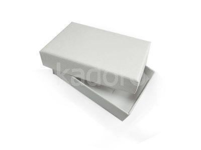 Pudełko z teksturą płótna prostokątne śnieżnobiałe