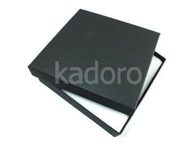 Pudełko z teksturą płótna na komplet czarne