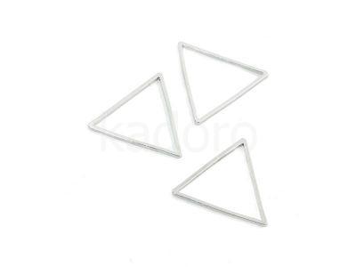 Baza trójkąt 24mm kolor srebrny - 4 sztuki