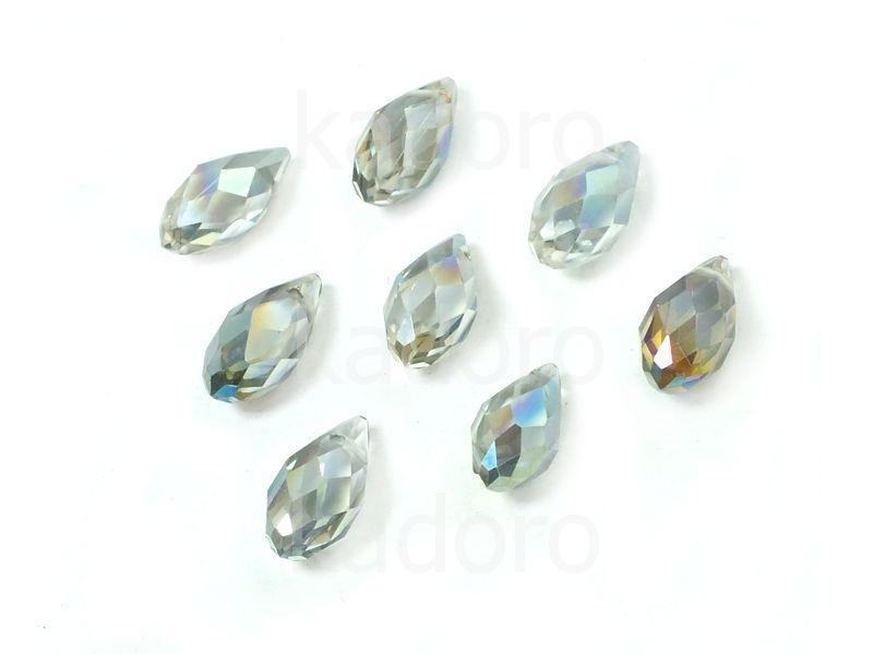 Briolette 13x6 mm kryształowe opalizujące - 2 sztuki