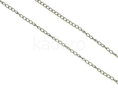 Łańcuch metalowy 5x3 mm kolor mosiądzu - 20 cm