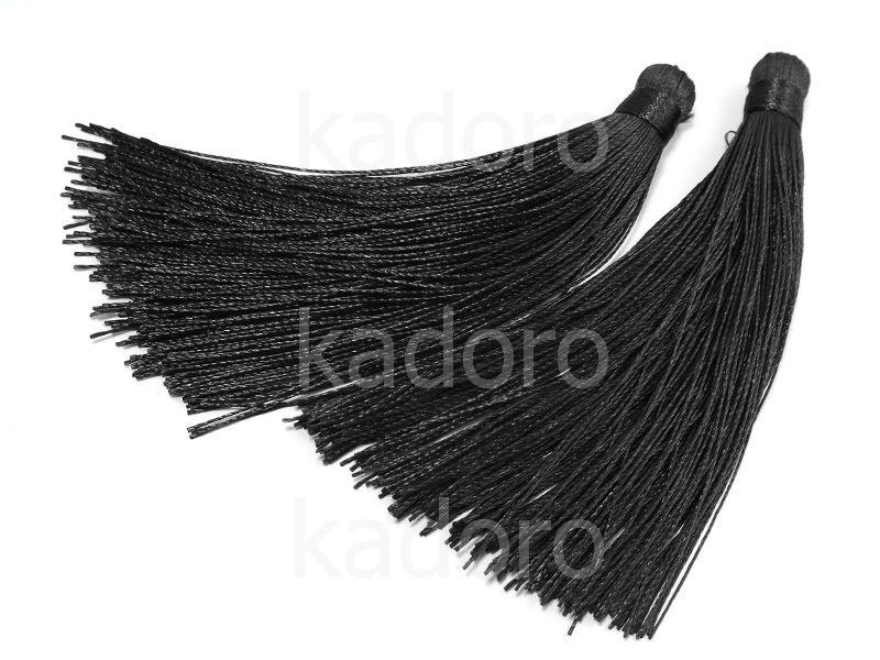 Chwost czarny 120-130x15 mm - 1 sztuka