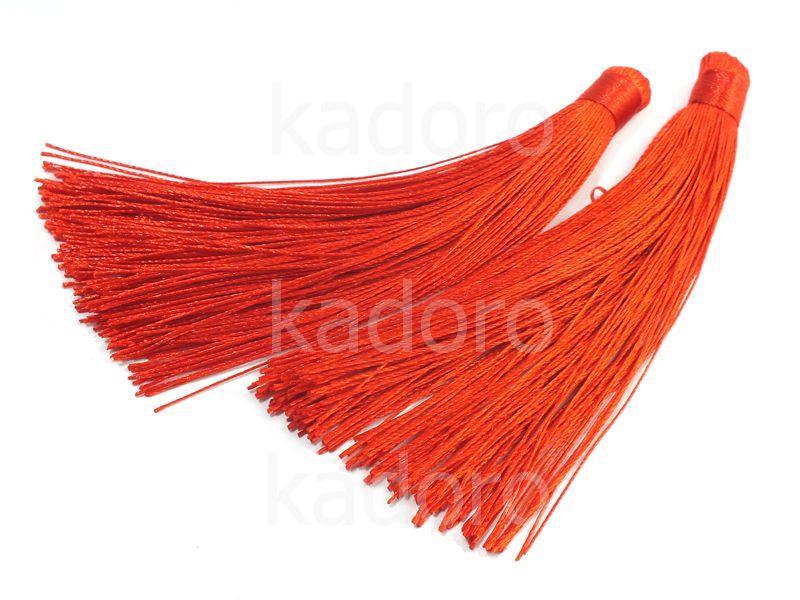 Chwost czerwony 120-130x15 mm - 1 sztuka
