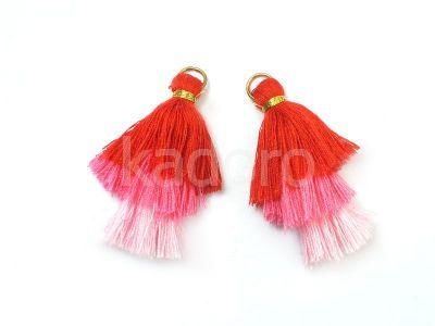 Chwost potrójny flamingowy mix 45x20 mm - 1 sztuka