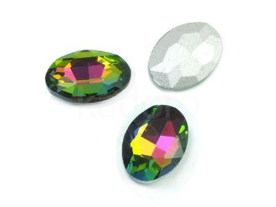 Szklany kamień fasetowany owal 18x13mm Crystal Vitrail Medium F - 1 sztuka