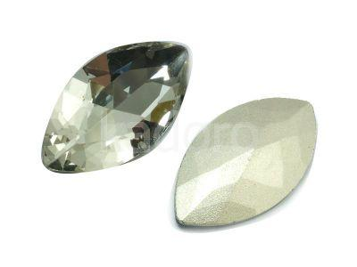 Szklany kamień fasetowany markiza 32x17mm Crystal F - 1 sztuka