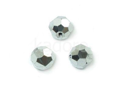 Half-drilled Round 8mm Silver - 1 sztuka