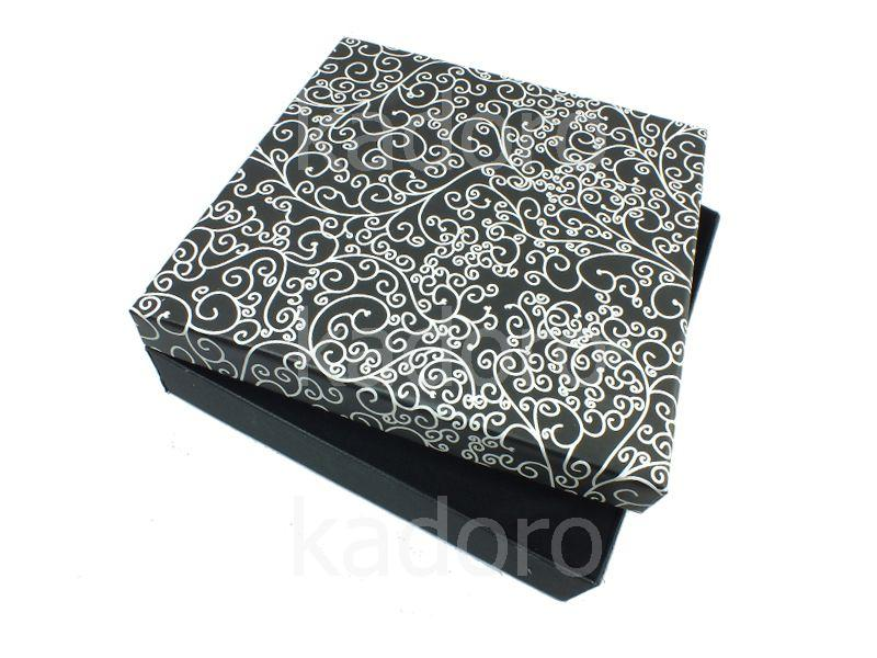 Pudełko esy-floresy na komplet czarne