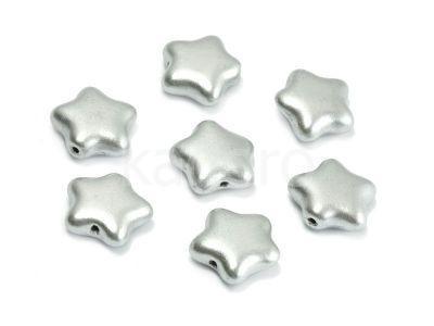 Star Beads Matte Metallic Aluminium 12 mm - 10 sztuk