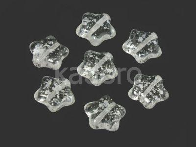 Star Beads Crystal Silver Splash 12 mm - 10 sztuk