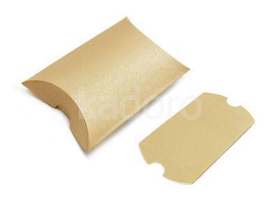Opakowanie na kolczyki złote satynowe - 1 sztuka