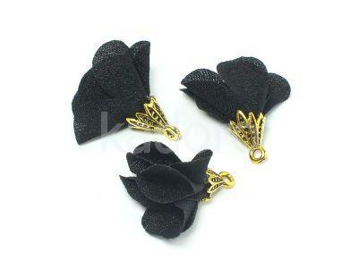 Kwiatek czarny 25 mm - 1 sztuka