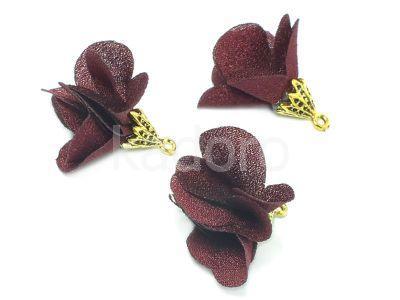Kwiatek bordowy 25 mm - 1 sztuka