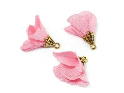 Kwiatek różowy 25 mm - 1 sztuka