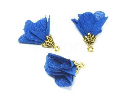 Kwiatek ciemnoniebieski 25 mm - 1 sztuka