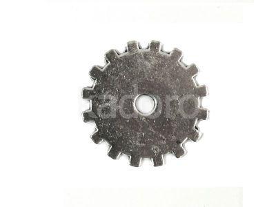 Zębatka XXI 20 mm kolor srebrny - 2 sztuki