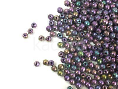 Round Beads Iris Purple 3 mm - opakowanie