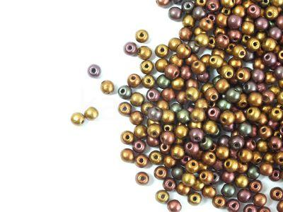 Round Beads Matte Metallic Iris Purple 3 mm - opakowanie