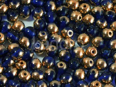 Round Beads Copper - Dark Sapphire 4 mm - opakowanie