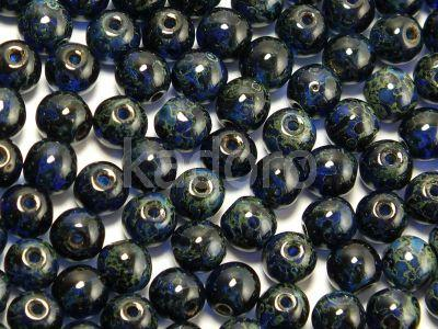Round Beads Dark Sapphire Travertin 4 mm - opakowanie