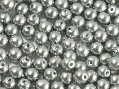 Round Beads Coated Silver Pearl 4 mm - opakowanie