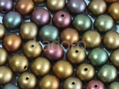 Round Beads Matte Metallic Iris Purple 8 mm - 10 sztuk