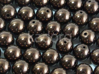 Round Beads Luster - Metallic Bronze Violet 8 mm - 10 sztuk