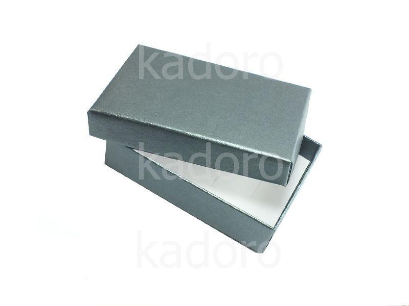 Ozdobne pudełko na biżuterię prostokątne grafitowe