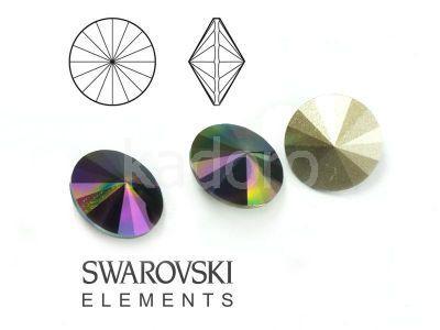 Rivoli Swarovski 12 mm Crystal Rainbow Dark F - 1 sztuka
