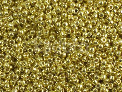TOHO Round 11o-PF590 Permanent Finish - Galvanized Lemon Gold - 10 g