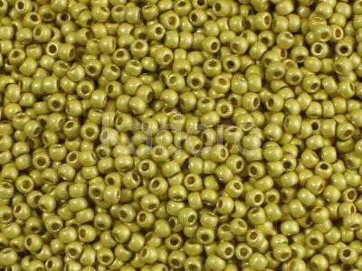 TOHO Round 11o-PF590F Permanent Finish - Matte Galvanized Lemon Gold - 10 g