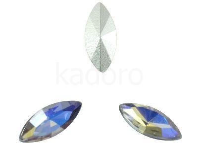 Szklany kamień fasetowany markiza 15x7mm Lavender - Blue Mist F - 1 sztuka