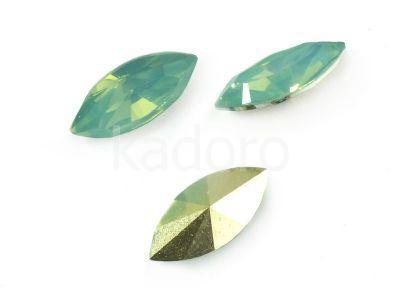 Yem Marquise 15x7 mm Green Opal F - 4 sztuki