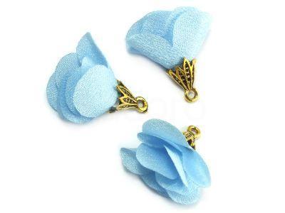 Kwiatek błękitny 25 mm - 1 sztuka