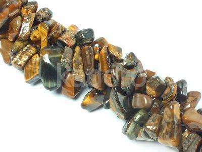Tygrysie oko sieczka 5-10 mm - długi sznur 80 cm