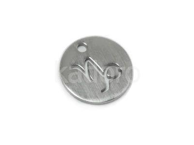 Zawieszka stalowa zodiak koziorożec 12 mm - 1 sztuka