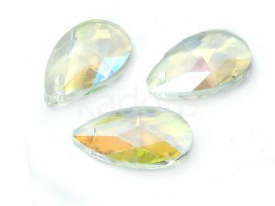 Migdał szklany Crystal AB 22 mm - 1 sztuka