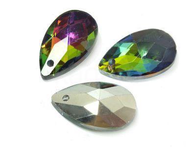 Migdał szklany Crystal Vitrail Medium 22 mm - 1 sztuka