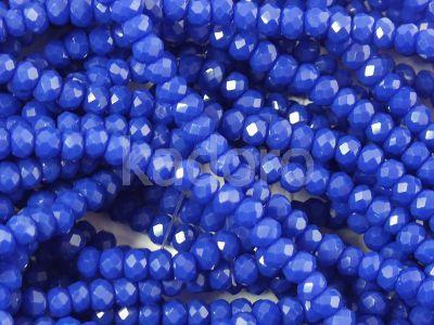 Szklane oponki fasetowane chabrowe 3x2 mm - sznur