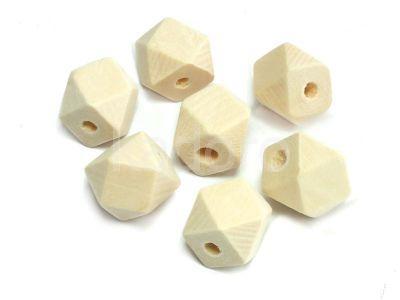 Koralik drewniany geometryczny 12 mm - 4 sztuki