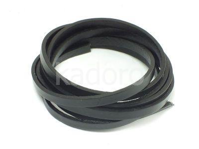 Rzemień prostokątny 5x2 mm czarny - 1 m