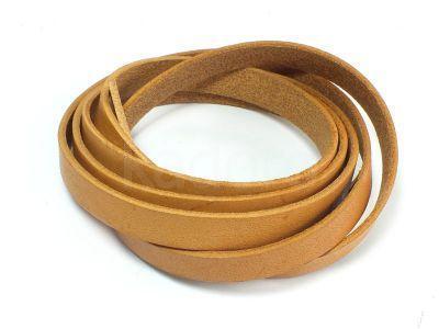 Rzemień prostokątny 10x2 mm naturalny - 1 m