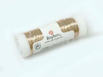 Drut mosiężny Rayher 0.4 mm - szpula 40 m