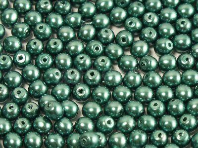 Round Beads Coated Emerald Pearl 4 mm - opakowanie