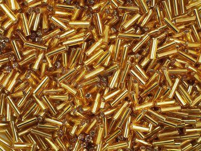 PRECIOSA Bugle 3-Silver-Lined Med Topaz - 10 g