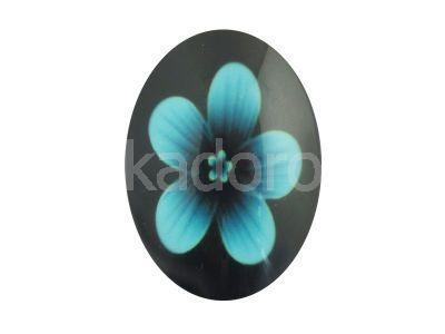 Kaboszon kwiaty II 35x25 mm - 1 sztuka