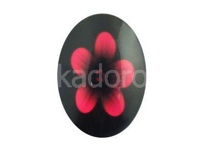Kaboszon kwiaty III 35x25 mm - 1 sztuka