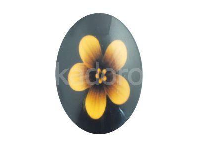 Kaboszon kwiaty IX 35x25 mm - 1 sztuka